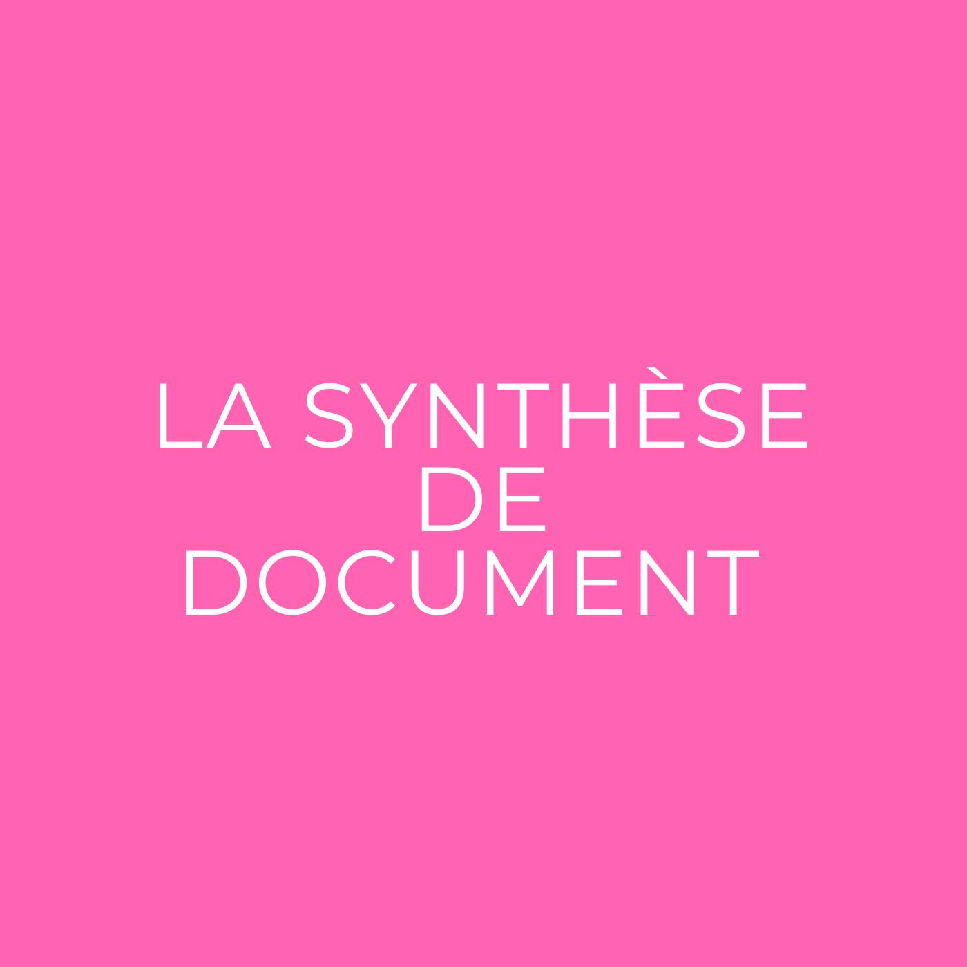 Synthèse de document en BTS : la méthodologie complète