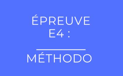 épreuve E4 du BTS PI