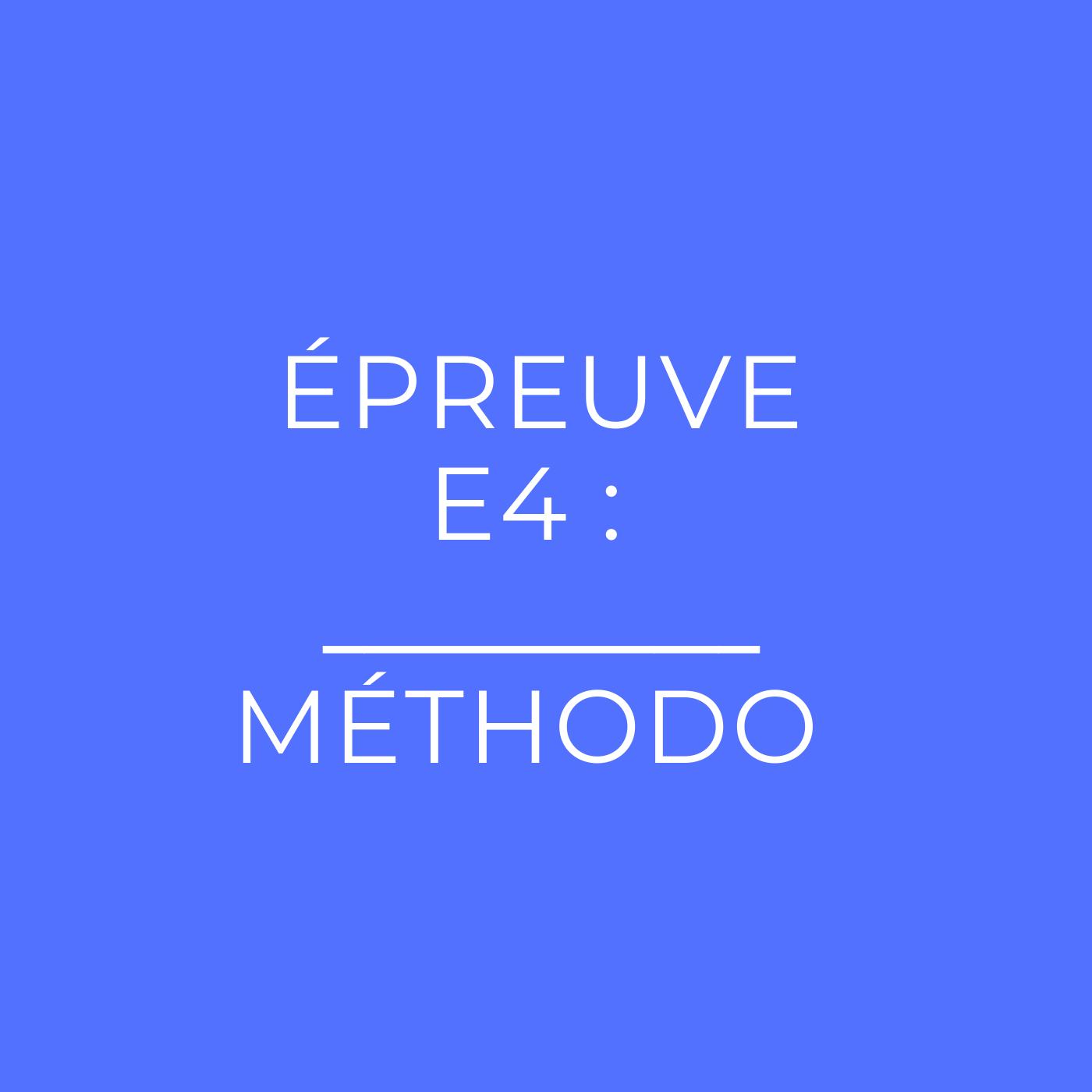 Épreuve E4 du BTS PI : la méthodologie complète