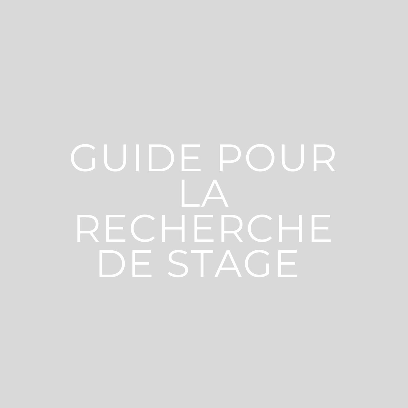 Guide pour la recherche de stage en BTS PI